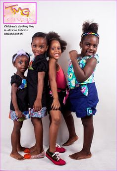 Welcome to Olori Wendy's Blog: TMG Divas !!! : Children's clothing line in African fabrics