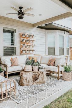 Root Outdoor Coffee Table—Arhaus - Outdoor living - Home Sweet Home Patio Design, House Design, Courtyard Design, Landscaping Design, Garden Design, Room Deco, Diy Terrasse, Outdoor Coffee Tables, Outdoor Table Decor