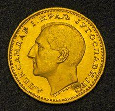 Yugoslavian Ducat Gold Coin of 1933, King Alexander I