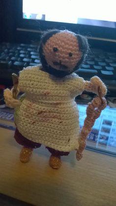 #macellaio #salumiere#crochet #amigurumi #uncinetto #presepe #fattoamano #handmade #creazioni  #filo #cotone