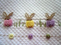 Buttons and Bunnies Dakota Pique w/ Lavender Pima by GailDoane