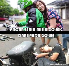Pacar lebih milih Go-Jek - #GambarLucu #MemeLucu - http://www.indomeme.com/meme/pacar-lebih-milih-go-jek/