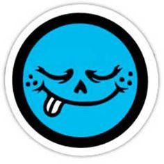 Roger Skateboards <br> Roger Skateboards Yum Face BLUE Sticker