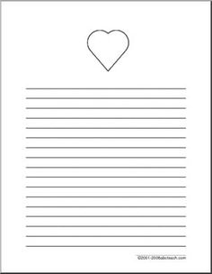 writing paper we remember elementary wide lined paper with the a heart at the top with a. Black Bedroom Furniture Sets. Home Design Ideas