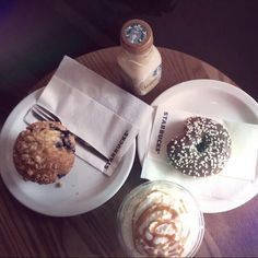 Sweet breakfast by Starbucks ♡