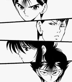 mangacap Yu Yu Hakusho hiei Yusuke kuwabara Kurama