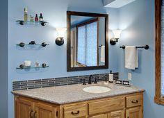 Blue Bathroom - After