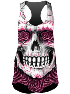 Indie style women's tank tops are a comfortable and cute way to express your style. Shop skull, tattoo, and punk tank tops is incredible style at Inked Shop. Skull Fashion, Punk Fashion, Fashion Outfits, Lolita Fashion, Diy Clothes, Clothes For Women, Skull Clothes, Skull Leggings, Angel Outfit