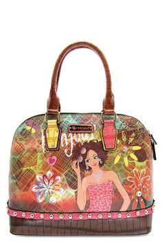 9f9bd6d0f4 Designer Inspired bag tote shoulder bag graphic print on purse nicole lee  insp  DesignerInspired