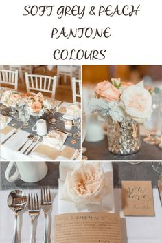 Soft Grey & Peach Pantone Colours For Your Wedding Day!