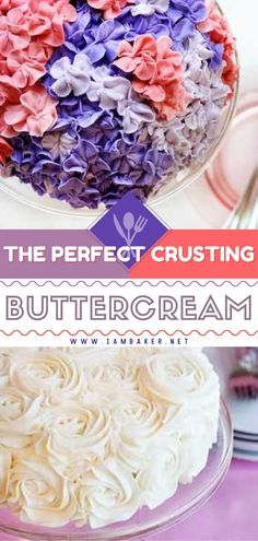 Looking for the perfect buttercream for your cakes? This Perfect Crusting Buttercream is just that, PERFECT. This simple frosting idea is perfect for cakes that you want the frosting to hold its shape for hours. Pin this easy dessert with few ingredients!