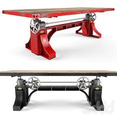 3d модели: Столы - Vintage Industrial Bronx Crank Table