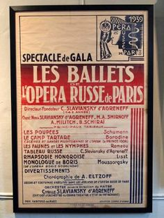 Original French Ballet Posters