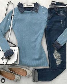 Fall Outfits, Casual Outfits, Cute Outfits, Fashion Outfits, Womens Fashion, Classic Outfits, School Fashion, Winter Looks, Looking For Women