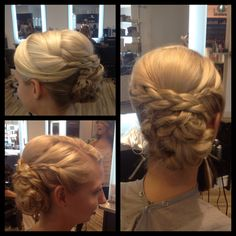 Wedding bridesmaid braided hair updo