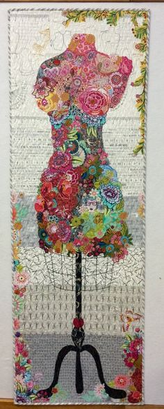 Perfect Form Dress Form Collage Pattern by Laura Heine