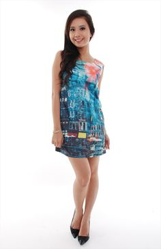 Alley Print Mini Dress S$28   from: Woods