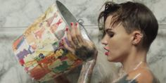"""Model and DJ Ruby Rose has released an incredible short film that explores the fluidity of the way humans embody concepts of gender. Called """"Break Free,"""" the video, released last week, is a powerful look at the ways that gender is perfor. Transgender, Ruby Rose Tattoo, Rose Actress, Rubin Rose, Agyness Deyn, Alcohol Is A Drug, Orange Is The New, Break Free, Models"""
