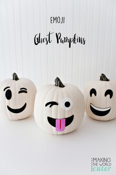 Ghost Emoji Pumpkins