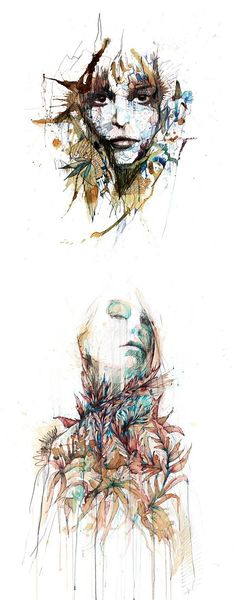 Tea, Vodka, Whiskey and Ink Portraits by Carne Griffiths | Inspiration Grid | Design Inspiration