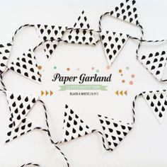 Paper raindrop garland Le Petit Biscuit