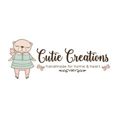 Premade Logo - Girly Bear Premade Logo Design - Customized with Your Business Name!