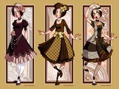 Retro Lolita yes please.    LM: Retro Lolita Set II by Seitou.deviantart.com on @deviantART