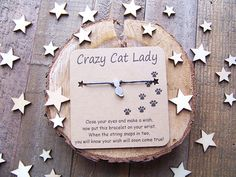 Your place to buy and sell all things handmade Wish Bracelets, Cord Bracelets, Crazy Cat Lady, Crazy Cats, Cat Jewelry, Jewellery, Silver Cat, Wishes For You, Make A Wish