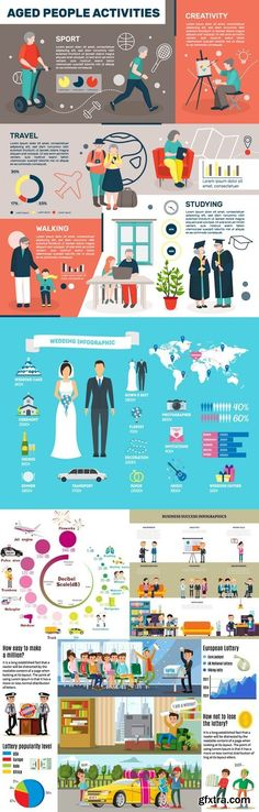 Vectors - Infographics with People 65