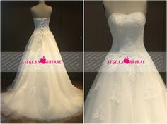 RW171 Lace Wedding Dress Ball Gown Sweetheart by Aegeanbridal, $210.00