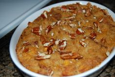 Pumpkin Bread Pudding (Low Fat)