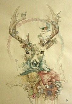 nature tattoo inspiration. This is it! Just need to get a owl in there....how about on my thigh?