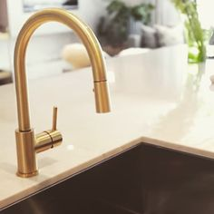 Beau Aquabrass Studio Kitchen Faucet In A Custom Brushed Brass Finish