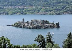 San Giulio island, Lake of Orta, Piedmont, Italy