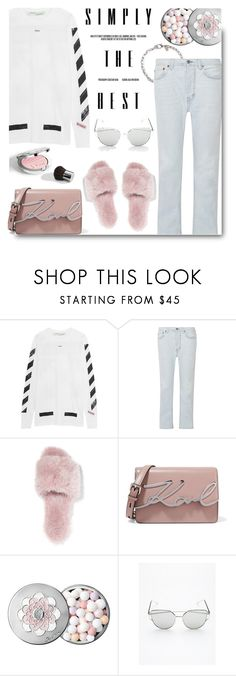 """""""Casual"""" by cilita-d ❤ liked on Polyvore featuring Off-White, Acne Studios, Joshua's, Karl Lagerfeld, Guerlain, Free People and Kenneth Jay Lane"""