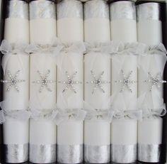 snowflake Christmas crackers