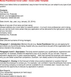 12 Nurse Practitioner Cover Letter | Riez Sample Resumes
