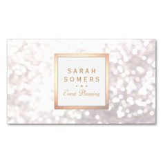 Glamorous and chic, this understated festive yet business card is perfect for entertainment and performing arts professionals whether it be an dancer, singer or actress. Digital image of gold foil (not real gold foil) and white and grey color scheme. Subtle sequin like bokeh pattern. Note: there is no real gold foil surface or sparkle. This is only an image.