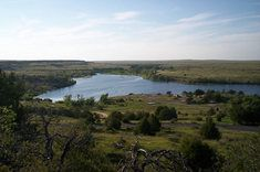 For star watching.  A daytime view of Clayton Lake State Park, in northeastern New Mexico.