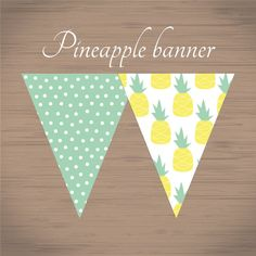 printable pineapple pattern banner summer pineapple by pisforprint