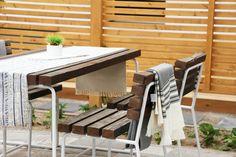 Outdoor Tables, Outdoor Decor, Outdoor Furniture, Home Decor, Homemade Home Decor, Decoration Home, Patio Table, Yard Furniture, Interior Decorating