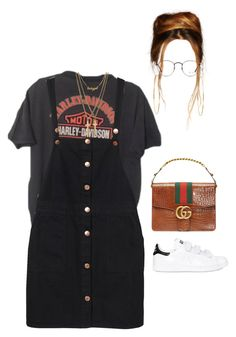 """""""Out in NY with her assistant and brother"""" by nytown ❤ liked on Polyvore featuring Jennifer Meyer Jewelry, Monki, Dsquared2, Ray-Ban and adidas"""
