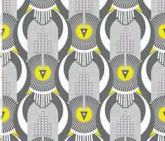 Art Deco New York fabric by zesti on Spoonflower - custom fabric