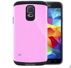 Phone Cover For Samsung Galaxy S5 i9600 SGP SPIGEN Tough Armor Case Pink