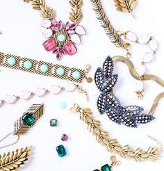 Flat lay jewelry