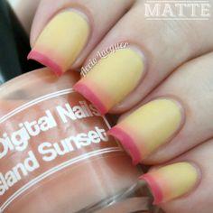 Digital Nails Island Sunset mattefied