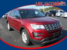 7687 – 2016 #Ford #Explorer XLT 4x4 4WD – Ruby Red with Black Interior, V-6 3.5 L, Auto, Reverse sensing with Backup Camera, Ford SYNC System w/My Ford Touch, 3rd row seat, Keyless with Remote Start, Heated Leather Seats, Low Miles! #Used #Cars #Cassville, #MO