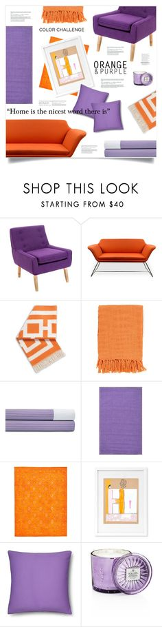 """""""Color Challenge: Orange and Purple"""" by marina-volaric ❤ liked on Polyvore featuring interior, interiors, interior design, home, home decor, interior decorating, Christopher Knight Home, Jonathan Adler, Surya and Ralph Lauren"""