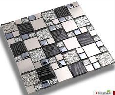 Silver metal mosaic stainless steel tile kitchen backsplash wall tiles SSMT114 glass mosaic tile glass tiles mosaics [SSMT114] - $24.43 : MyBuildingShop.com