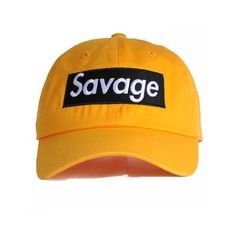 b874d7fae04 Nerdy Fresh The Savage Dad Hat in Yellow  amp  Black ( 35) ❤ liked